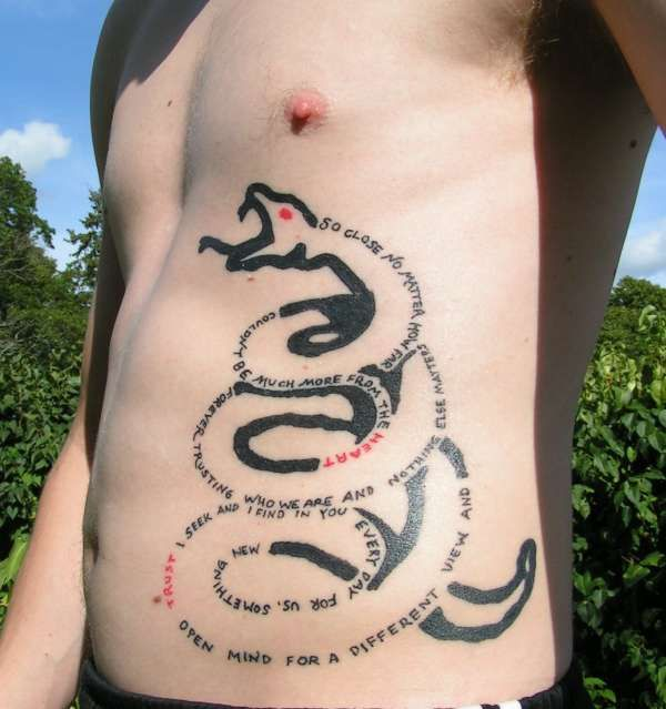 Metallica Snake Tattoo