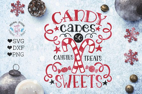 Candy canes svg Candy Canes Candies Treats Sweets Cut File in SVG, DXF, PNG.