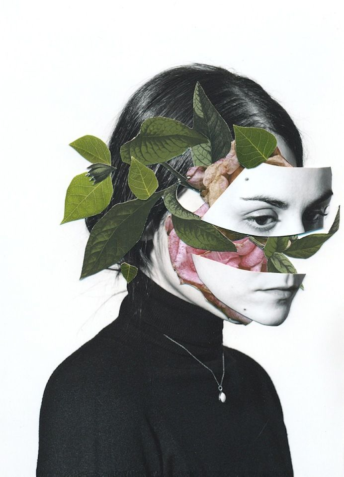 Photo Manipulation & Collage / Photographic Bodies Injected with Floral Oddities by Rocio Montoya