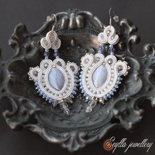 Kolczyki #Sutasz #soutache #wedding jewellery