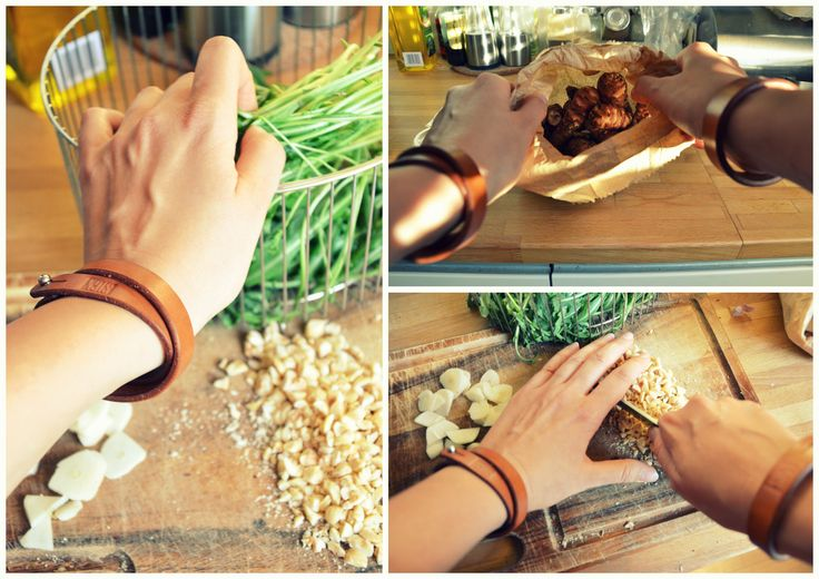 Natural leather bracelets by SIGN