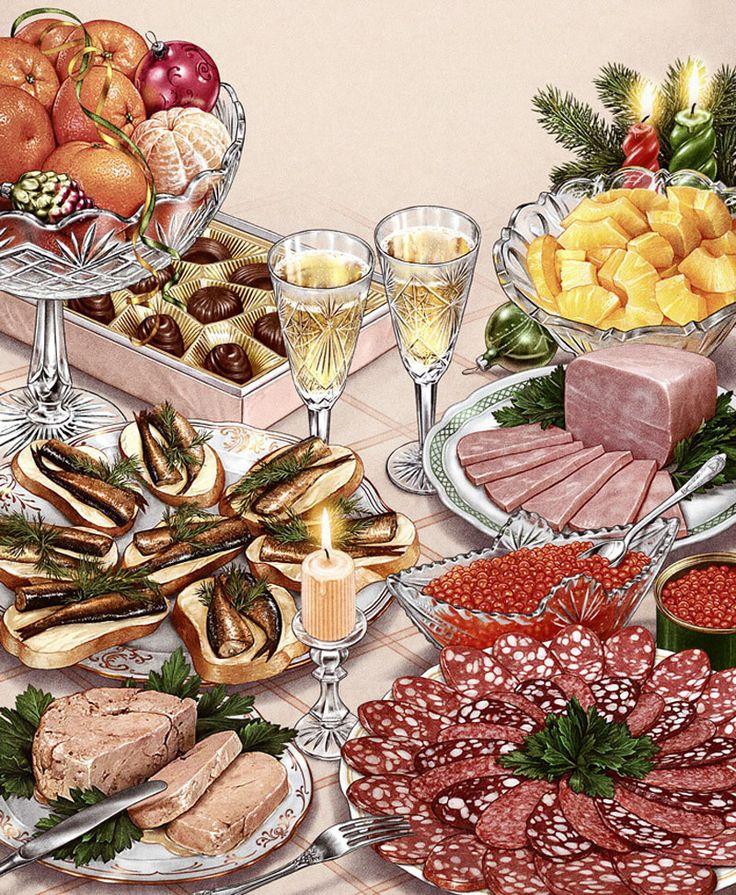 Надписями, анимация картинки еды на столе