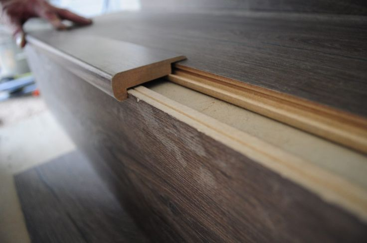 stair nose on laminate flooring