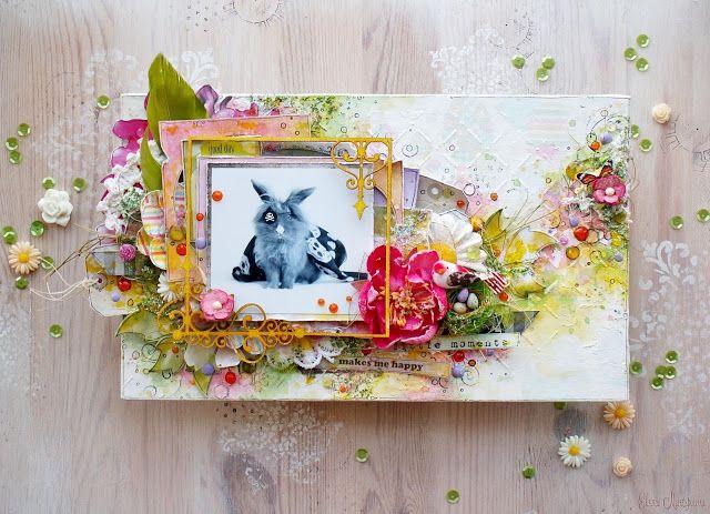 "Elena Martynova: Холст ""Кролик-пират""/ Canvas Bunny-pirate"