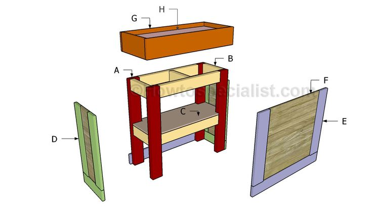 Aquarium stand building plans woodworking projects plans for Fish tank stand plans
