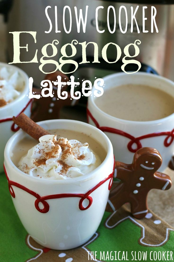 This recipe for Slow Cooker Eggnog Lattes is such a fun different way than hot cocoa. Perfect for a holiday get-together or work parties.