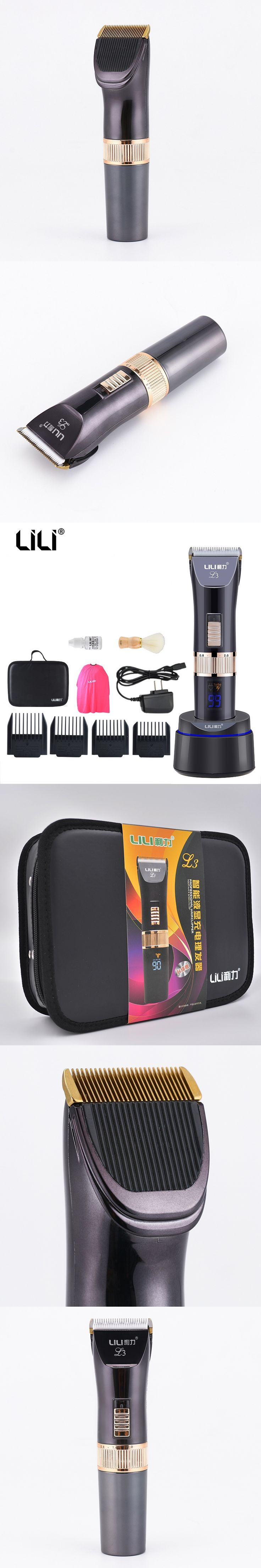 100-240v Professional Hair Clipper Electric LCD Display Hair Trimmer Hair Shaving Machine Hair Cutting Beard Razor High quality