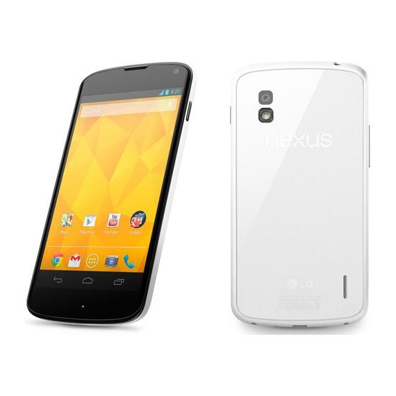 The magical white Nexus 4 from #LG