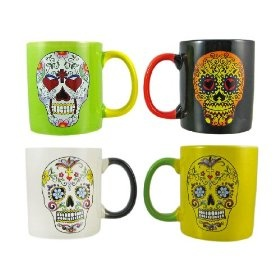 want!!!!!: Coff Mugs, Kitchens Dining, Halloween Gifts, Sugar Skull, Ceramics Coffee, Day Of The Dead, Skull Ceramics, Coffee Mugs, Dead Sugar