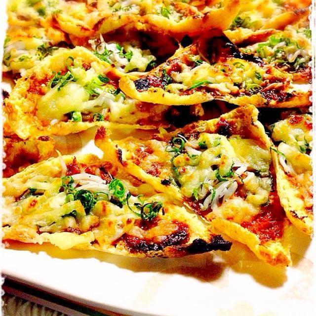 手抜きで味噌は『つけて味噌かけて味噌』でやっちゃいました(。-∀-)ニヒ♪ - 88件のもぐもぐ - 咲きちゃんさんの料理 オツな肴シリーズ②ピリ辛ネギ味噌きつねピザ by hanohano