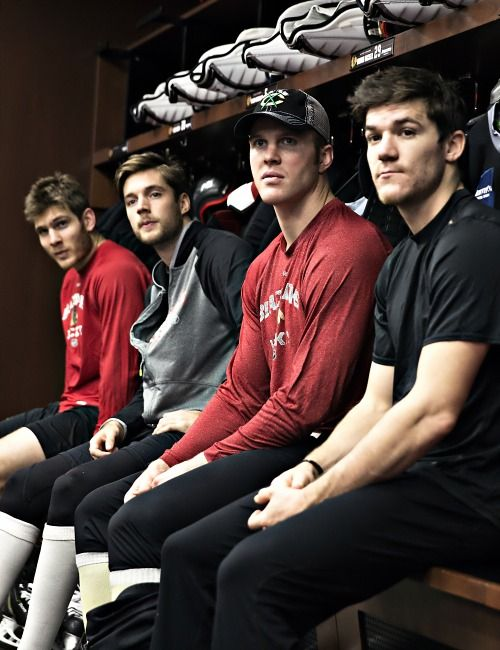 Ben Smith, David Rundblad, Bryan Bickell and Andrew Shaw.