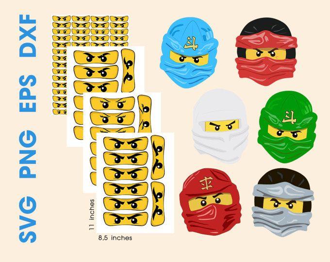 Ninja Clip Art Ninja Augen Ninja Maske Vektor Clipart Digital