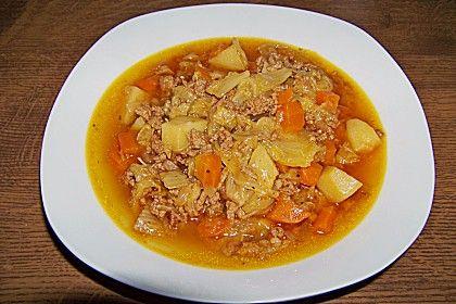 Chinakohl - Eintopf mit Hackfleisch im Schnellkochtopf (Rezept mit Bild)   Chefkoch.de