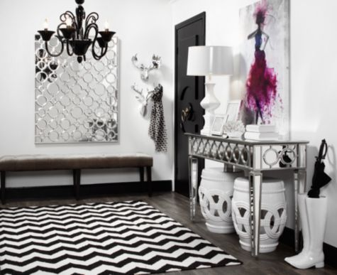 Entrance Sophie Mirrored Console Table From Z Gallerie