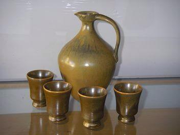 Wine jug & goblets