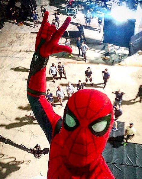 Tom Holland Shares The Perfect Spider-Man Selfie - Visit to grab an amazing super hero shirt now on sale!