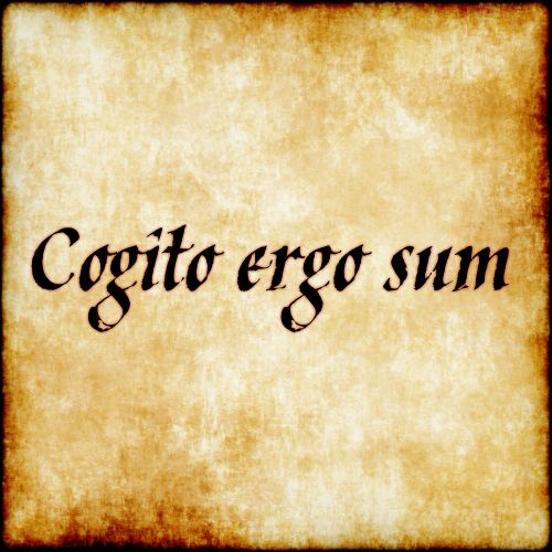 "Cogito Ergo Sum - ""I think, therefore I am"""