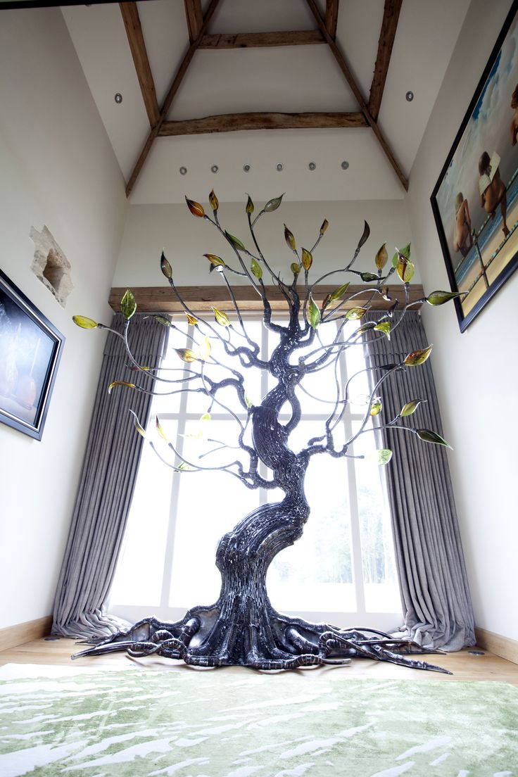 Gnarly Willow Sculpture by Loco Glass and Duncan Thurlby www.locoglass.co.uk
