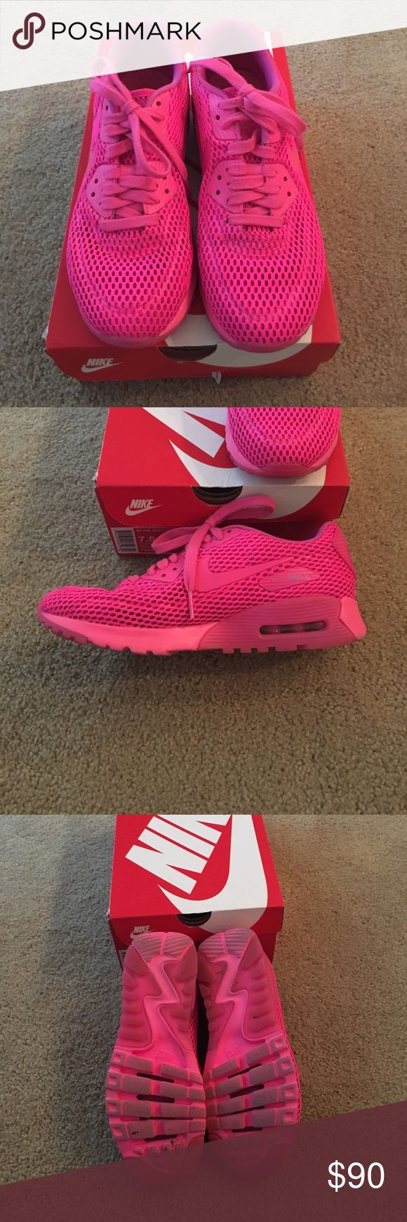 Bright pink Nike air max Gently worn bright pink Nike air max. Come with original box. Nike Shoes Sneakers