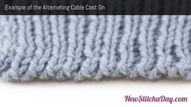 Alternating Cable Cast On Tutorial - Perfect for hat brims, socks and sweater sleeve cuffs