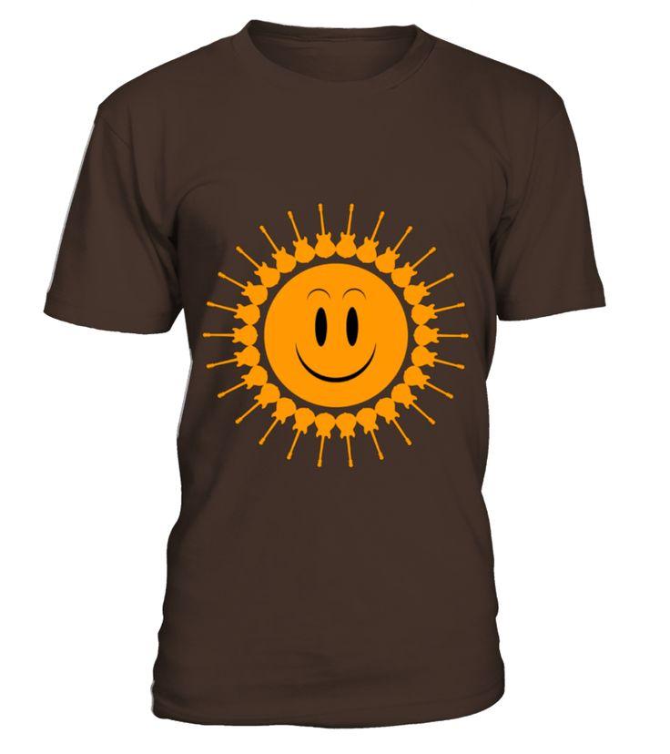 guitars sun orange   Womens T Shirt by American Apparel  #guitar #music