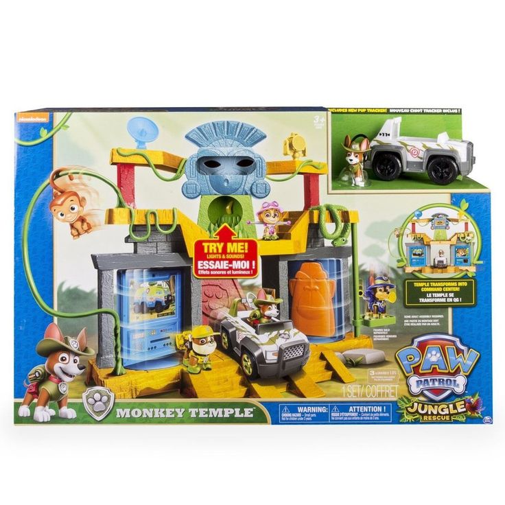 Paw Patrol Jungle Rescue Monkey Temple Playset with Tracker Pup Figure Vehicle | Toys & Hobbies, TV, Movie & Character Toys, Other TV/Movie Character Toys | eBay!
