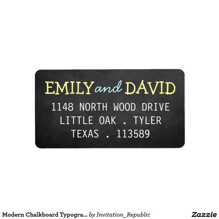 wedding stickers for invitations%0A Modern Chalkboard Typography Wedding Labels