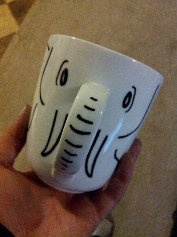 DIY White elephant coffee mug. Sharpie on plain mug, bake at 350 for one hour. Going to issue this with cocoa, coffee, and cookies :-)