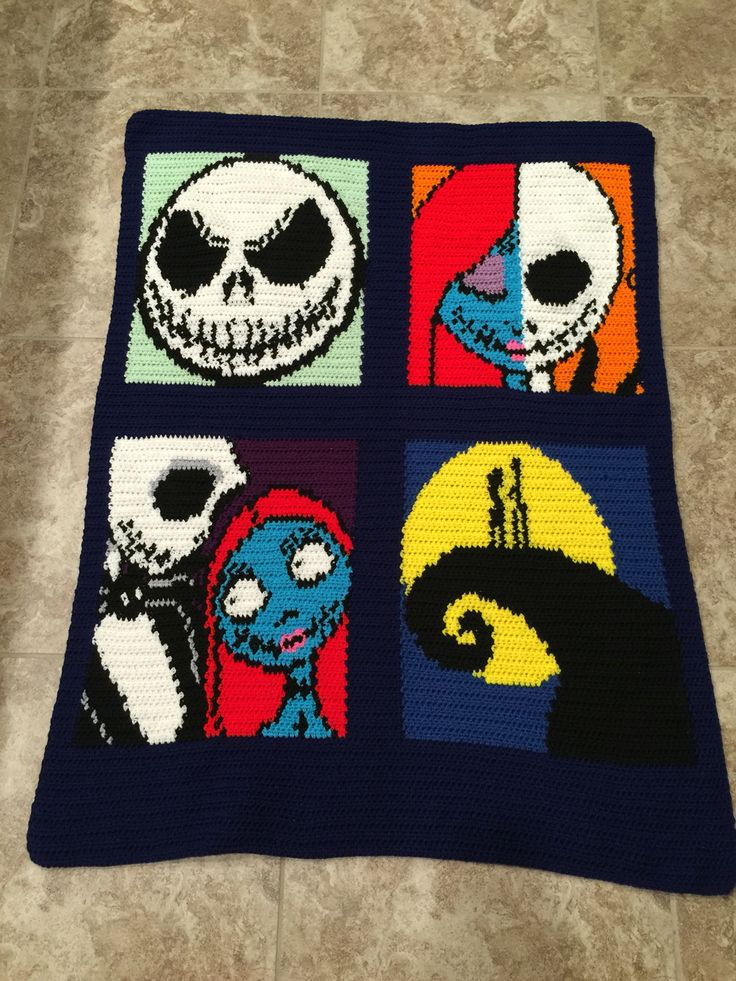 Nightmare Before Christmas.  Made for @v_nessa_og hopefully the kiddos don't steal this one. #CrochetCrazy #StuffIMake #Graphgan Vanessa Ong