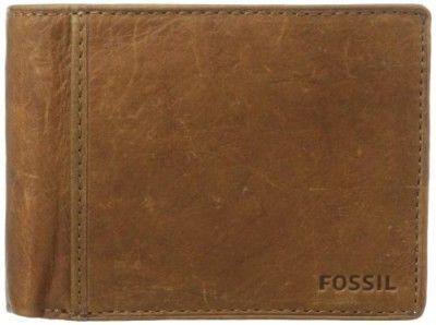 Carteira Fossil Men's Ingram International Traveler Wallet, Cognac, One Size #Carteira #Fossil