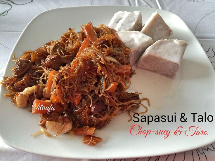 sapasui  talo chop suey  taro  polynesian food  tongan