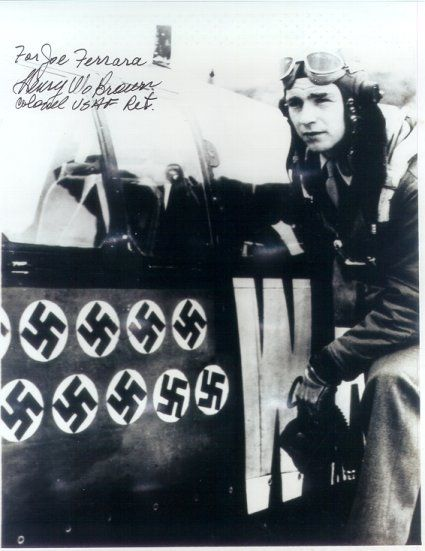 Harry Winston Brown (May 19, 1921 – October 7, 1991) was an Army Air Corps second lieutenant assigned to the 47th Pursuit Squadron at Wheeler Field on the island of Oahu during the Japanese attack on December 7, 1941. He was one of the five American pilots to score victories that day. Brown was awarded a Silver Star for his actions, and was the first Texan decorated for valor in the war. By the war's end, he was a flying ace.  17.2 Air Victories...