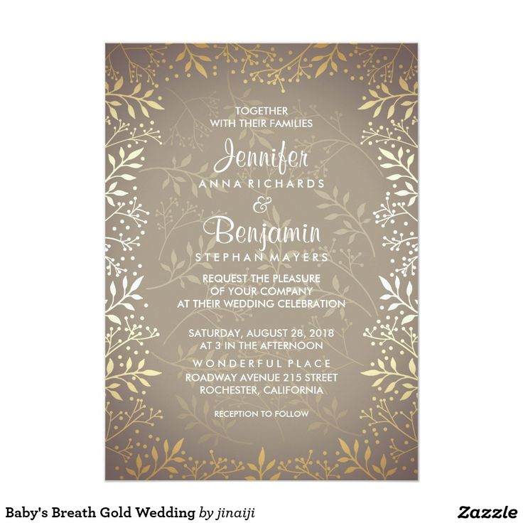 864 best Gold Wedding Invitations images on Pinterest Gold