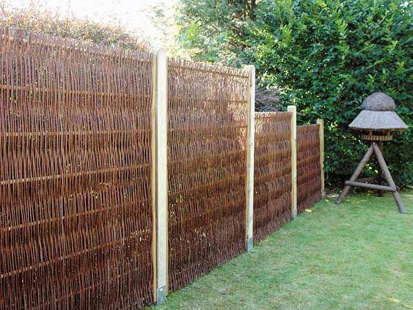 Etwas Neues genug Weidenzaun selber machen für eine natürliche Gartengestaltung #QF_42