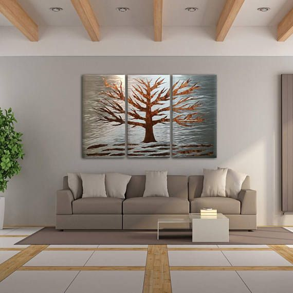 A Perfect Modern Three Pieces Wall Sculpture For Your Contemporary Modern Or Traditional Home Modern Wall Sculptures Metal Tree Wall Art Contemporary Wall Art