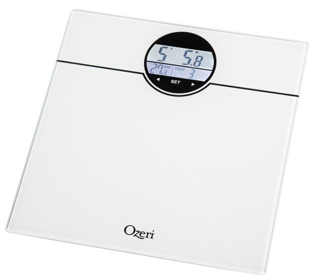 Ozeri ZB21-W Weightmaster 400-Pounds Digital Bath Scale with BMI and Weight Change Detection @Ozeri #Ozeri