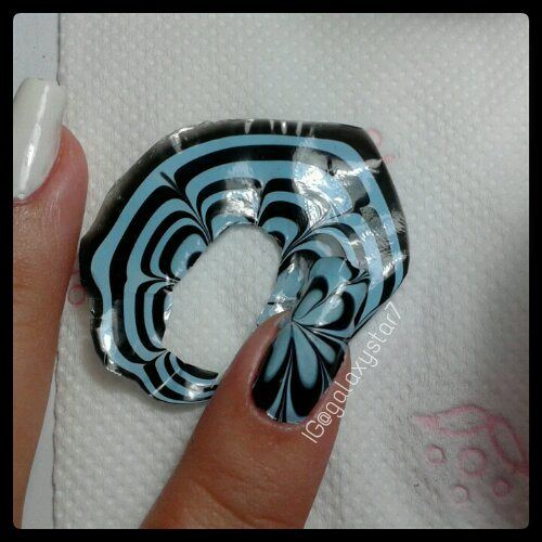 water marbling made into a decal