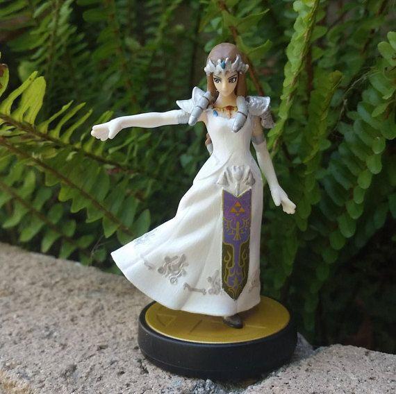 White Wedding Dress Zelda Custom Amiibo By Peachy Customs