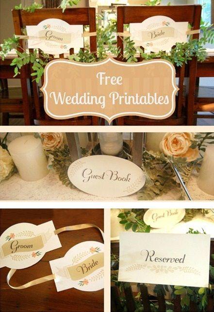 21 Awesome Free Printable Wedding Signs | visit www.freetemplateideas.com