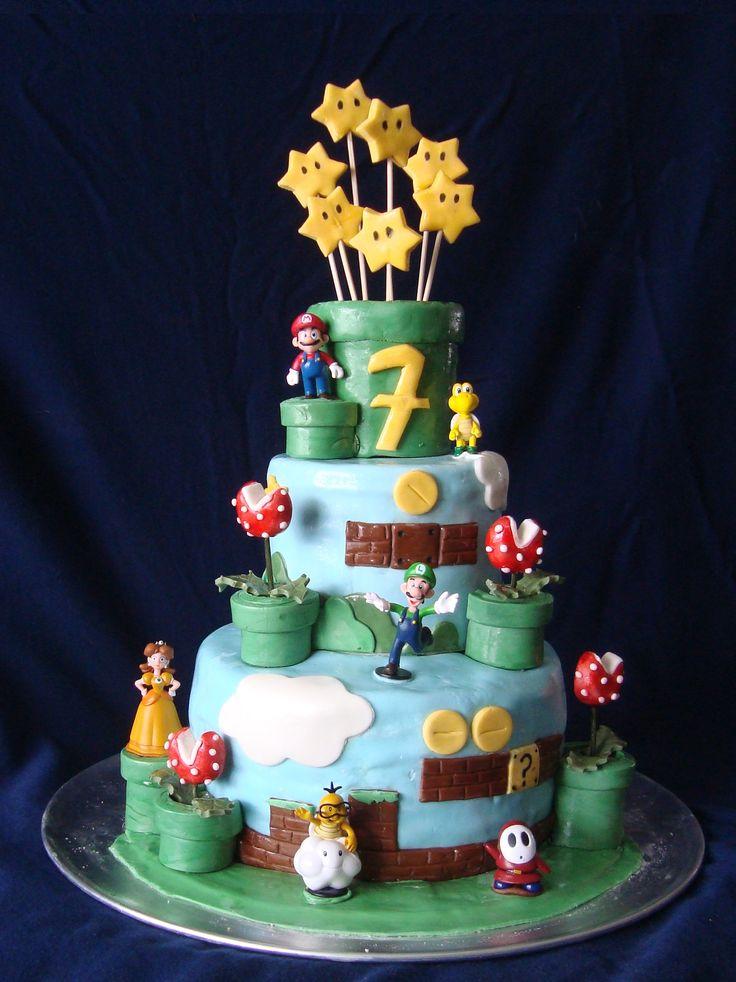 Nathan 7th birthday - Mario Bros
