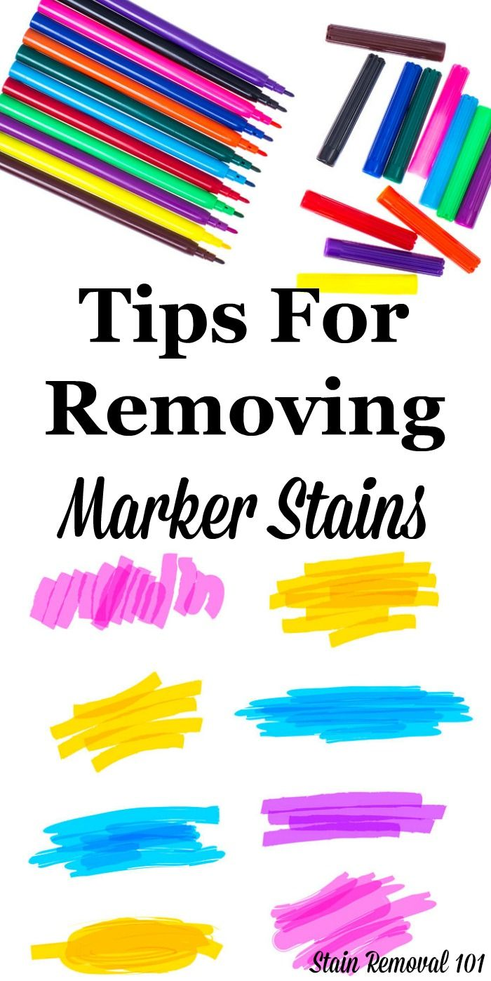 Here is a round up of marker removal stain tips when that marker colors on  stuff
