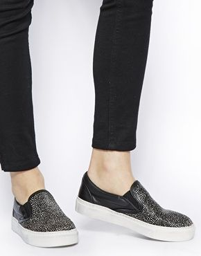 Bronx Speckled Slip On Trainers