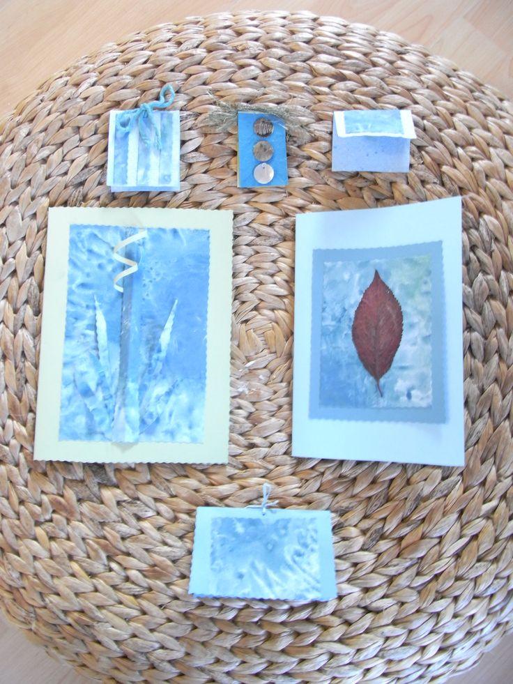 Watercolour card making
