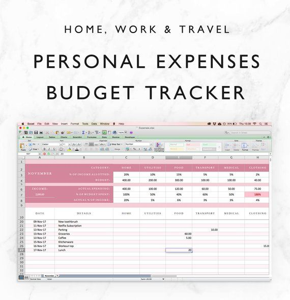 Personal Finance Planner Template from i.pinimg.com
