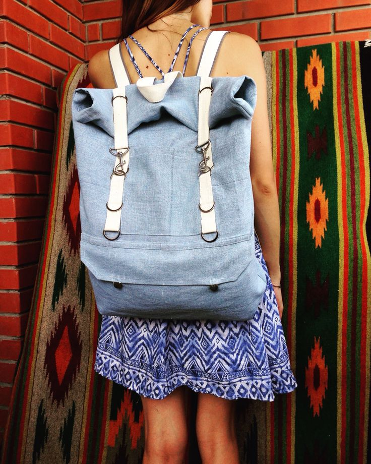 Traveler backpack blue