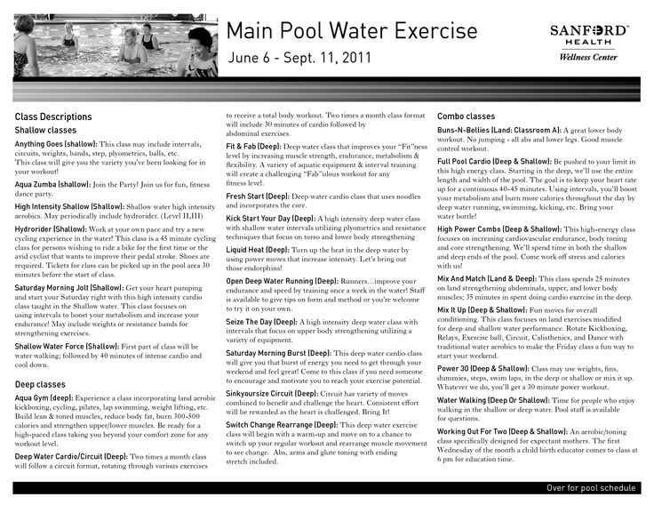 water exercises | Main Pool Water Exercise | ~Water ...