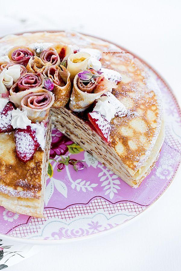 Tort naleśnikowy waniliowy