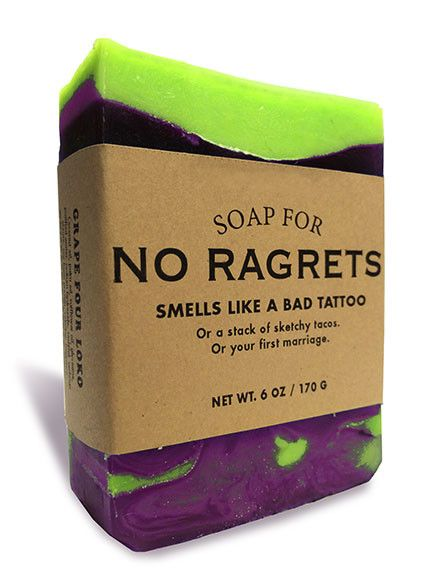Soap for no ragrets regrets tattoo and humor for Good soap for tattoos