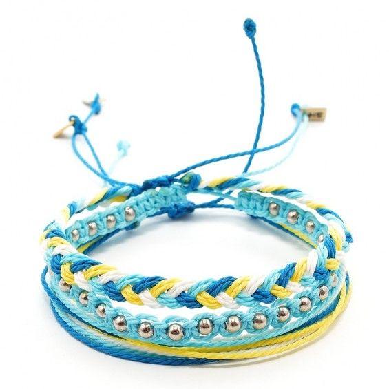 bracelets sets, zestaw bransoletek, makrama, macrame