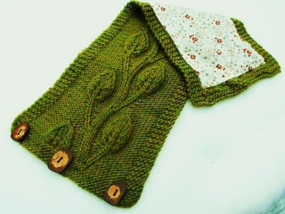 vine/leaf knitted motif: Neck Warmers Knits Patterns, Knitting Patterns, Leaf Patterns, Cowls Knits, Neckwarm Patterns I, Knits Funk, Crochet Patterns, Knits Scarfs, Close Knits